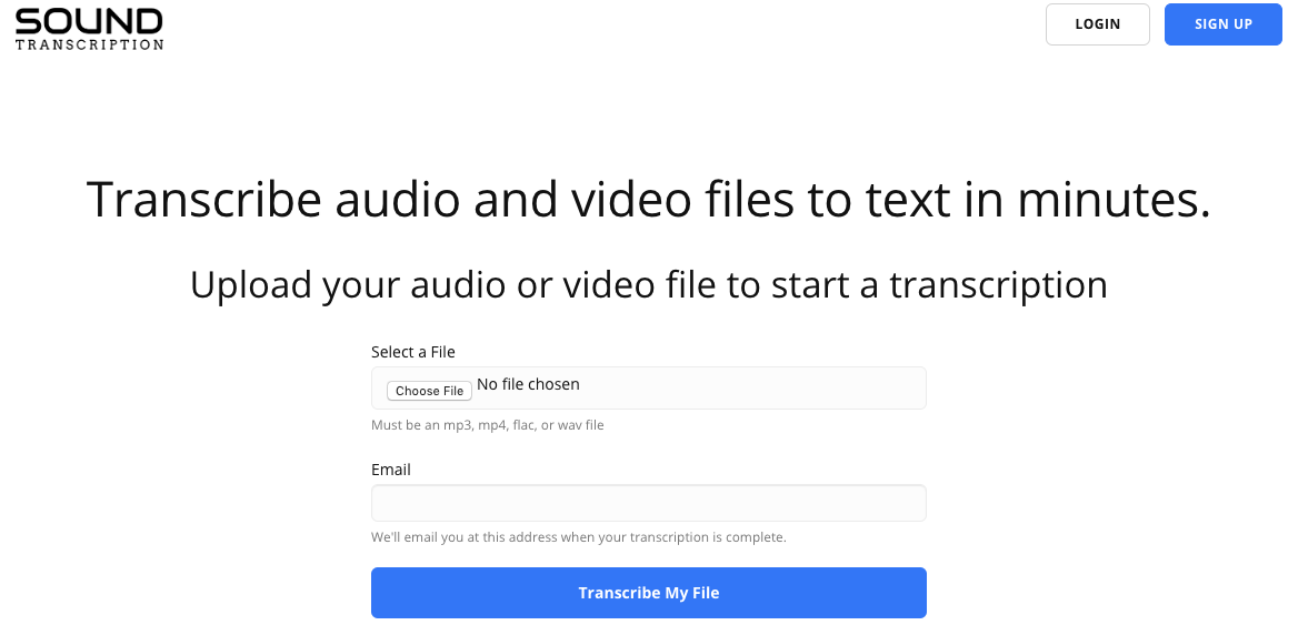 Transcribe audio to text